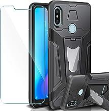AROYI Funda Xiaomi Mi A2 Lite + Protectores de Pantalla,2in1 Dura PC + Suave TPU Silicona Carcasa Híbrido Armadura Heavy Duty Bumper Case Hard Cover para Xiaomi Mi A2 Lite - Negro