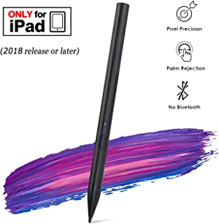 Stylus Pen for Apple iPad Pro Palm Rejection , Active Digital Pencil for iPad pro 3rd Gen 11/12.9 Inch/Air 3rd Gen / iPad 6th Gen / iPad mini 5th Gen After 2018-Black