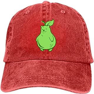 LeoCap Grizzly Pear Baseball Cap Unisex Washed Cotton Denim Hat Adjustable Caps Cowboy Hats