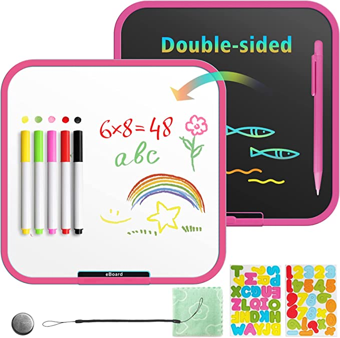 Erasable and Reusable Digital Drawing Tablet Educational Toys Gifts for 2 3 4 5 6 Years Old Boys and Girls Black BUODREPE LCD Writing Tablet 10 Inches Colorful Toddler Doodle Board Drawing Pads