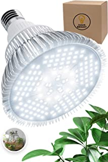 100W LED Grow Light Bulb - Pure White Full Spectrum Plant Light for Indoor Plants, Garden, Aquarium, Vegetables, Greenhouse & Hydroponic Growing   E26/E27 Socket (AC85-265V) by Haus Bright