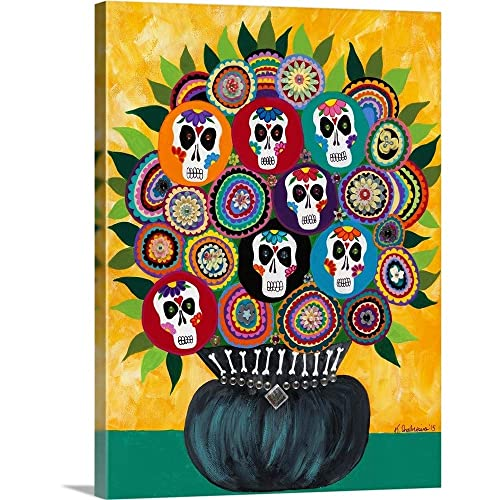 VINTAGE ANTIQUE MUSIC BOOK PAGE WALL POP ART PRINT PICTURE COLOUR CANDY SKULL 2