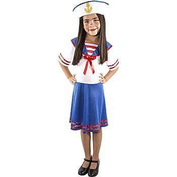 Costumizate! Disfraz de Marinera para niña Talla 7-9 Especial para ...