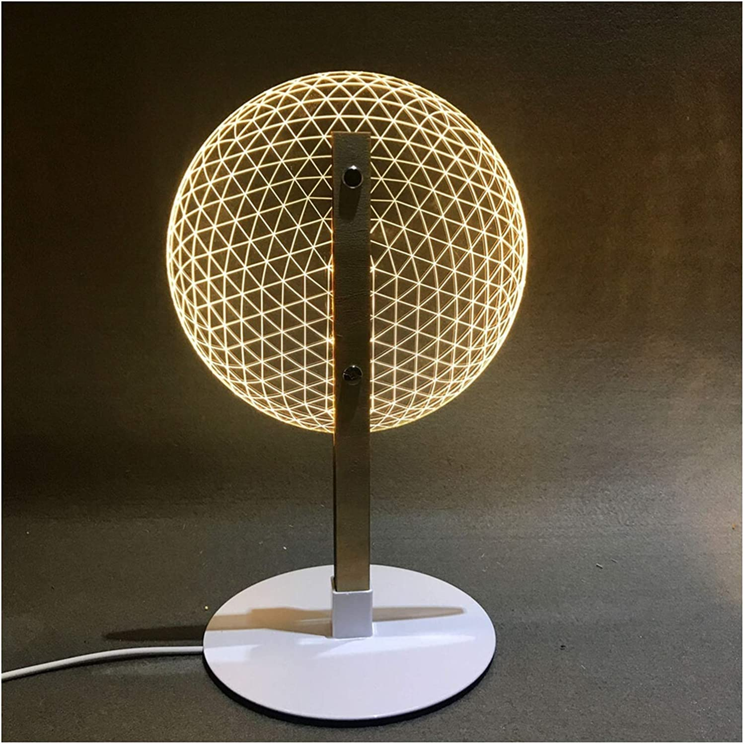 Cash special price CHENPINBH Night Virginia Beach Mall Light 3D Effect Novelty Table Lamp Reading Bloom