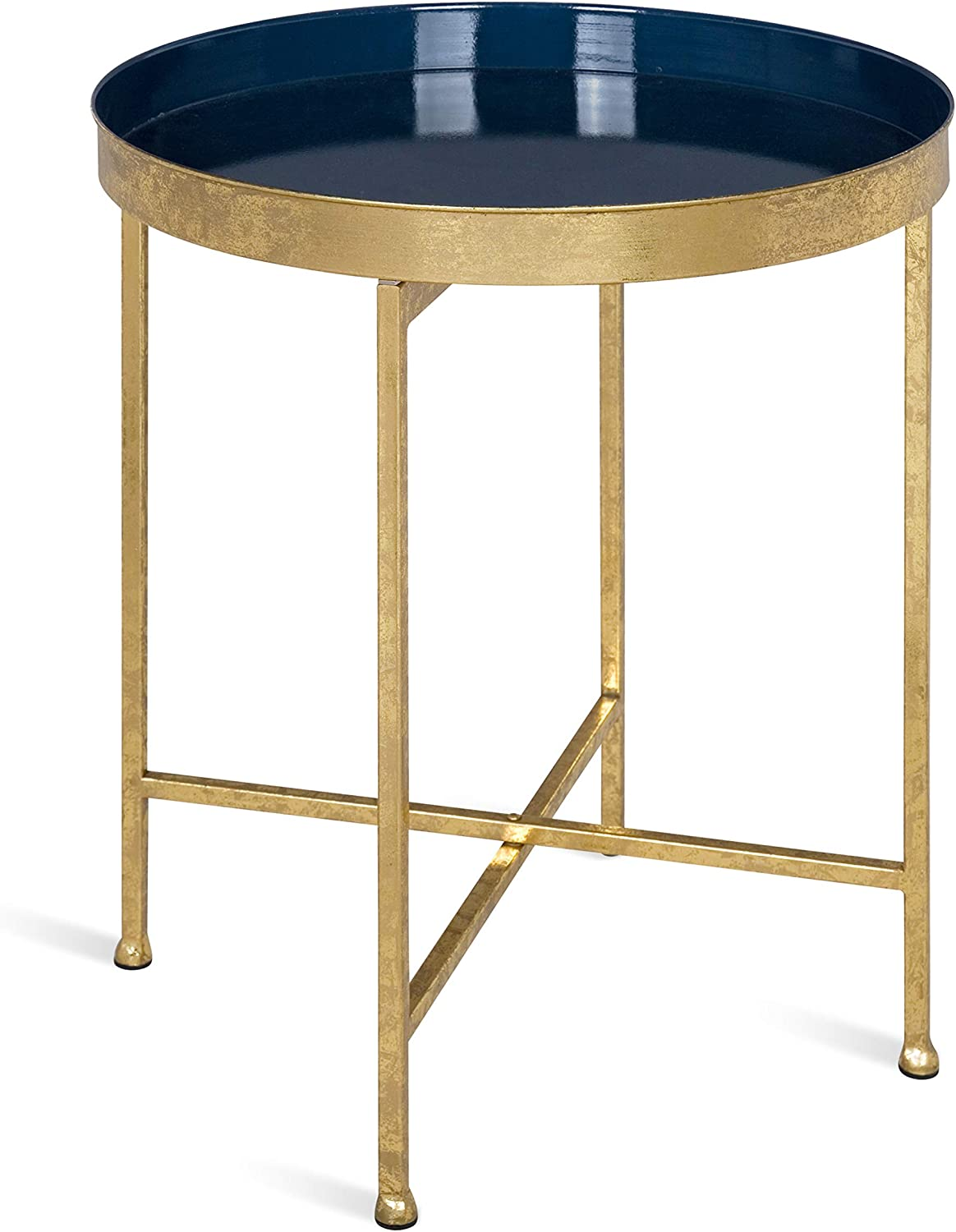 Kate and Laurel Celia Department store San Diego Mall Metal Foldable Accent Round Table 18.25