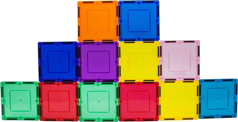 Ranking TOP6 PicassoTiles 12 Piece Magnetic Building Square M San Francisco Mall Shape Set Block