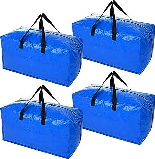 کیف های ذخیره سازی فوق العاده بزرگ سنگین ، کیف های متحرک XL برای ملزومات خوابگاه دانشگاه ، لوازم متحرک سازگار با سبد خرید IKEA Frakta ، 4 بسته