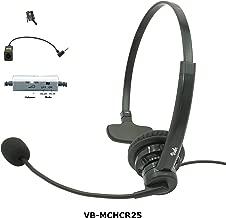 Visbr Noise Canceling Call Center Headset Compatible with Most Phones Include: Altigen at&T ATCOM Avaya Cisco Fanvil Grandstream Mitel Nortel Obihai Panasonic Polycom Shoretel Yealink with RJ9, 2.5mm