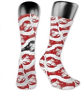 Inner-shop, Niños Niñas Langosta Langosta Langosta negra Calcetines deportivos Calcetines altos hasta el tobillo Medias de compresión por debajo de la rodilla Calcetines divertidos casuales a media pierna