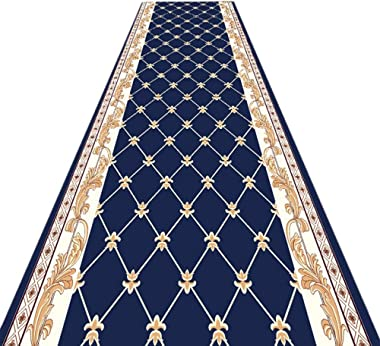 JIAJUAN Hallway Runner Rugs Non Slip Kitchen Utility Dust Narrow Passage Door Long Floor Mats, 7mm, 2 Colors, Multiple Sizes,