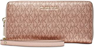 MICHAEL Michael Kors Metallic Signature Travel Continental Wallet - Rose Gold