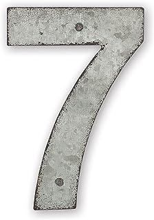 Sunset Vista Design Studios Magnetic Sign 4-Inch Metal Address Tile, Number 7