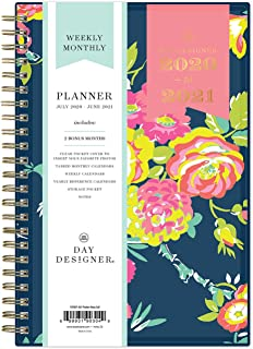 "Day Designer for Blue Sky 2020-2021 Academic Year Weekly & Monthly Planner, Flexible Cover, Twin-Wire Binding, 5"" x 8"", Peyton Navy, (Model: 107927-A21)"