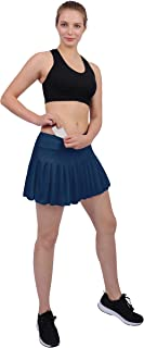 Womens Tennis Pleated Skorts Golf Workout High Waist Biult in Skirts Sports Active Wear with Pockets