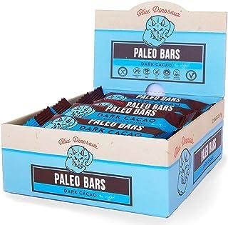[Blue Dinosaur] ダークカカオ味 運動時 小腹を満たす 持ち運び便利 補助食バー (Paleo Bars Dark Cacao) 45g×12本 [海外直送品]