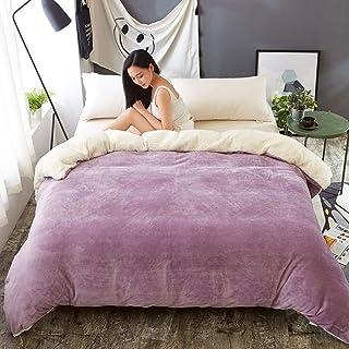 XJ&DD funda cama franela edredon felpa franela de cama funda nordica-K180x200cm(71x79inch)