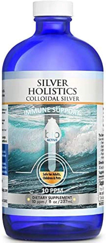 Colloidal Silver Liquid Solution 8 oz Superlatite in Over item handling ☆ Glass Bottle 10 PPM