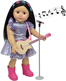 "18"" Doll Guitar & Microphone Set - Includes Doll Clothes - Fits American Girl Dolls"