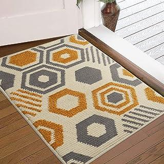 """Color&Geometry Indoor Doormat, Outdoor Indoor Mat 32""""x20"""", Waterproof, Non Slip Washable Quickly Absorb Moisture and Resist Dirt Rugs"""