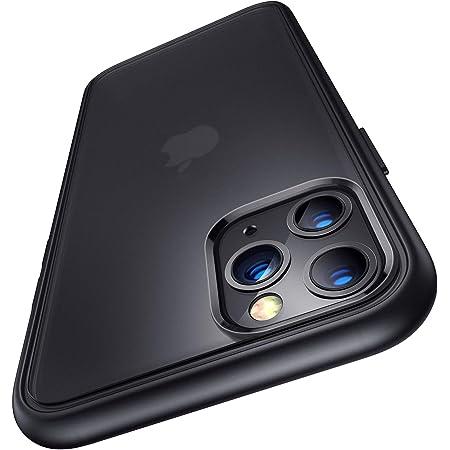 Humixx 2021最新版 For iPhone 11 Pro ケース 耐衝撃 米軍MIL規格 半透明 マット感 黄変防止 指紋防止 レンズ保護 ワイヤレス充電対応 ブラック アイフォン11プロ 用カバー[Shockproof Series]