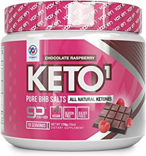 Exogenous Ketones Supplement with Beta Hydroxybutyrate BHB Salts for Ketogenic Diet – Keto Powder Drink to Help Reach Ketosis, Weight Control, Reduce Stress, Boost Energy (Chocolate Raspberry 10 SRV)