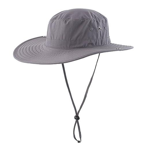 ef184d2f032 Connectyle Outdoor Cowboy Sun Hat Wide Brim Bucket Fishing Hats Summer  String Hat