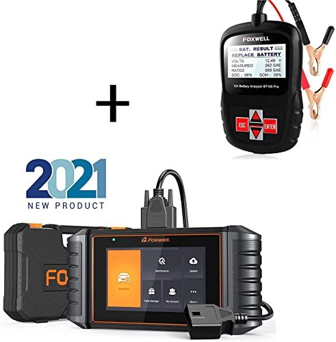 high quality FOXWELL (2021 New-Tech) NT726 OBD2 Scanner Car Code high quality Reader wholesale for All Car Car Battery Tester Analyzer BT100 Pro outlet online sale