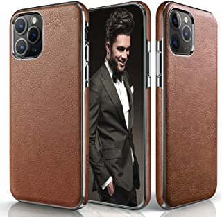 LOHASIC iPhone 2019-5.8 inch, Slim Luxury PU Leather Soft Flexible Defender Bumper Anti-Slip Grip Scratch Resistant Protective Cover Cases Brown US-039-5.8brown