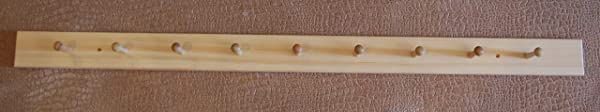54 Unfinished Pine 9 Shaker Peg Coat Rack