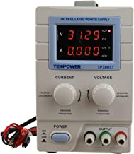 Tekpower TP3005T Variable Linear DC Power Supply, 0 - 30V @ 0 - 5A with Alligator Test Leads