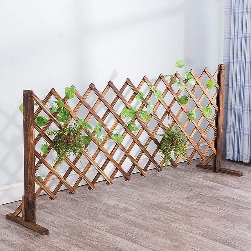 木製フェンスガーデンテレスコピックフェンスガーデン装飾グリッドフェンス, 3サイズ。 (Size : Height80cm/31.5inch)