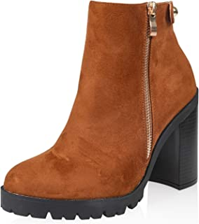 ankle boots chunky heel