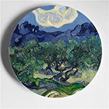 Wall Hanging Decoration 6/7/8 Inch Painting Porcelain Decorative Creative Art Disc Style Wall Hanging Plate Disc Ceramic-2...