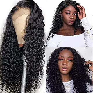Water Wave Lace Front Wigs Human Hair Pre Plucked 4x4 150% Density Wet and Wavy Human Hair Lace Front Wigs Brazilian Human...