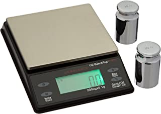 US BALANCE Backlit LCD Display Table Scale, 2000 x 0.1gm, Black