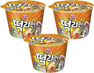 [Ottogi] Hot & Spicy Rice Cake Cup Ramen Noodle Soup (Pack of 3) / Tteok Ramen/Korean food/Korean ramen (overseas direct shipment)