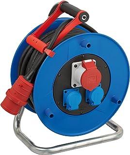 Brennenstuhl Garant CEE 1 IP44 Industrie-/Baustellen-Kabeltrommel, 30m Kabel in schwarz, Spezialkunststoff, Baustelleneinsatz und ständiger Einsatz im Außenbereich, BGI 608
