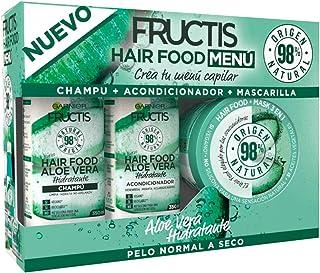 Garnier Fructis Hair Food Menú Aloe Vera Pack Champú + Acondicionador + Mascarilla para Pelo Normal a Seco - Crea tu Menú ...