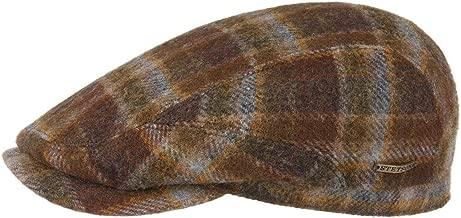 Stetson Belfast Woolrich Plaid Flat Cap Men - Made in Germany