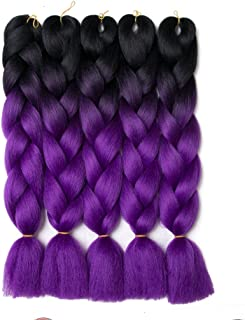 Best xpression braiding hair purple ombre Reviews