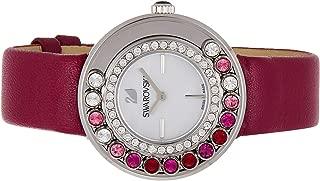 Swarovski Women's Quartz Watch, Analog Display and Leather Strap 1160309, Purple Band