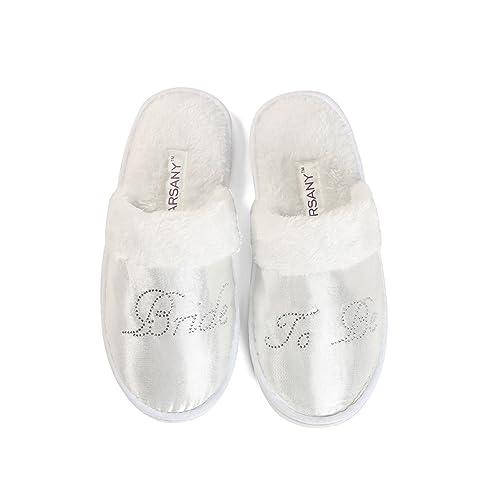 Zapatillas translúcidas de balnerio/spa de la futura novia para despedida