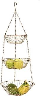 RSVP International 3-Tier Hanging Wire Basket, Copper One Size