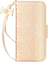 WWW iPhone 11 Case (6.1 inch),iPhone 11 Wallet Case, [Luxurious Romantic Carved Flower] Leather Wallet Case with [Inside M...