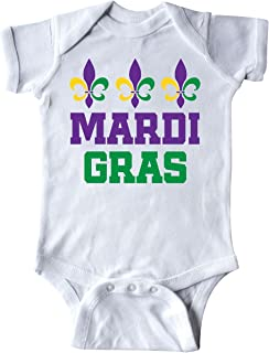 inktastic Mardi Gras Fleur De Lis Trio Infant Creeper