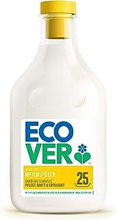 Ecover mjuka borstar – Gardenie & vanilj (750 ml/25 tvättladdningar), mjuk spole med växtbaserade innehållsämnen, ekologis...