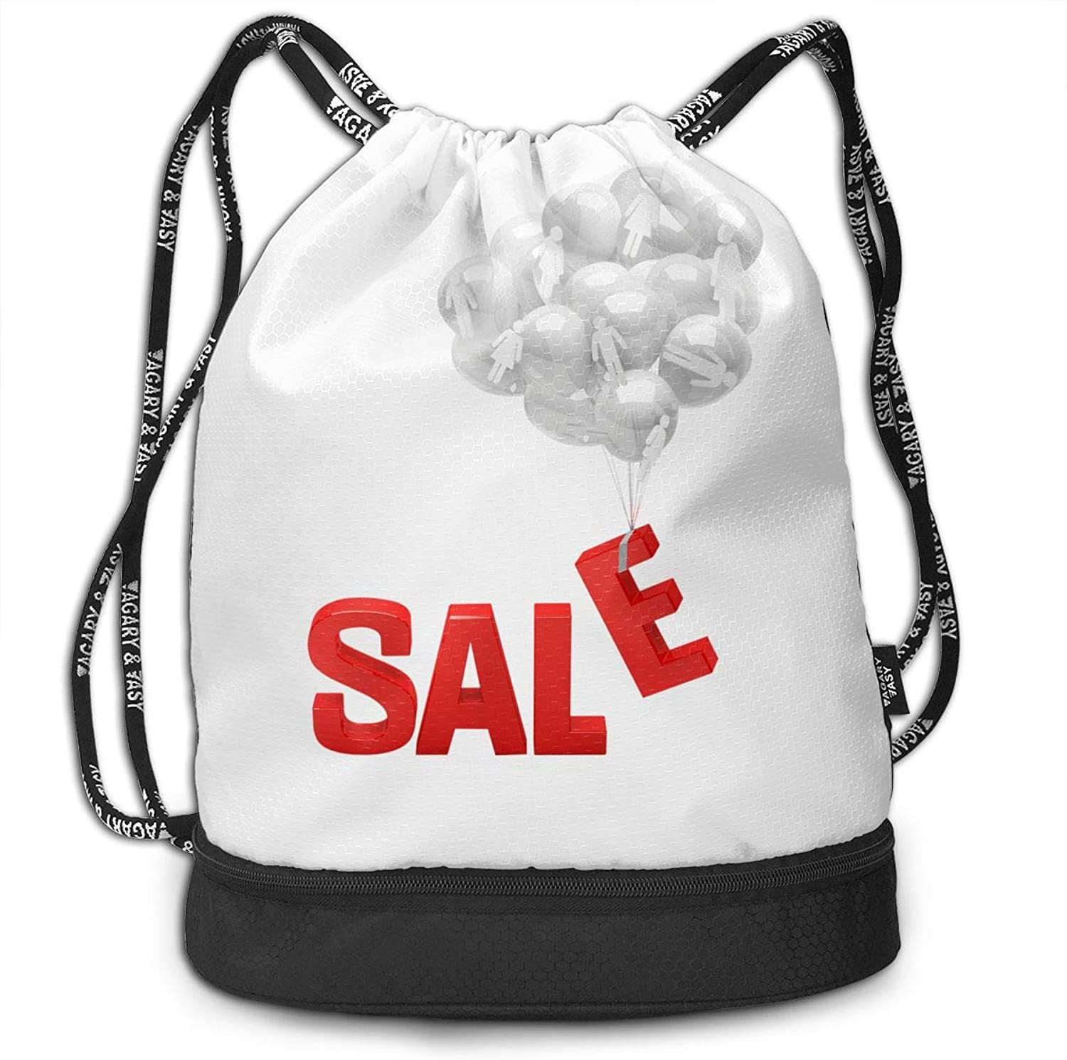 Gymsack Sale Balloon Print Drawstring Bags  Simple Gym Shoulder Bags