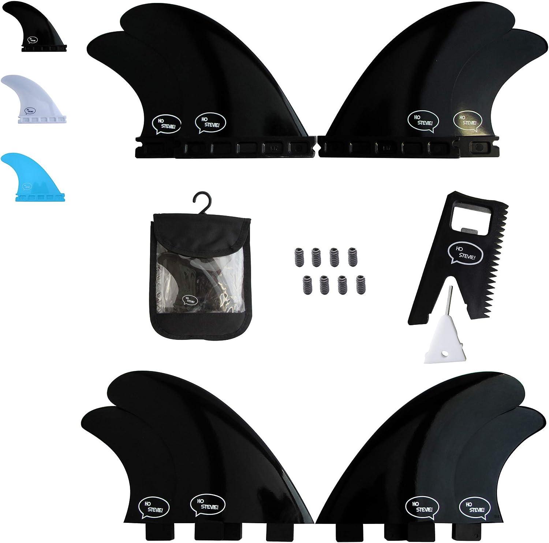 Fiberglass Reinforced Polymer Surfboard Fins - Quad (4 Fins) FCS or Futures Sizes Choose color (Black FCS)