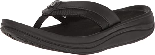 New Balance Wohommes Revive Thong Sandal, noir, 6 B US