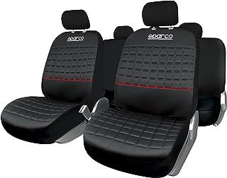 SPARCO Universal Seat Cover Lazio Set, SPC1042RS, Black/Red